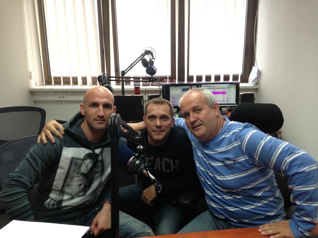 S Robom Vittekom, Stanom Kramaričom pri nahrávaní reklamy!